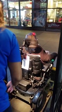 A public bus with wheelchair hoist!